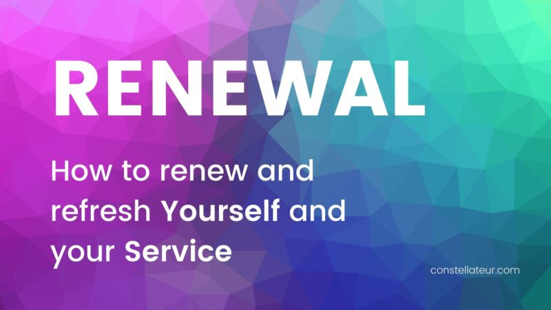Renewal Practices: how to renew and refresh yourself and your service