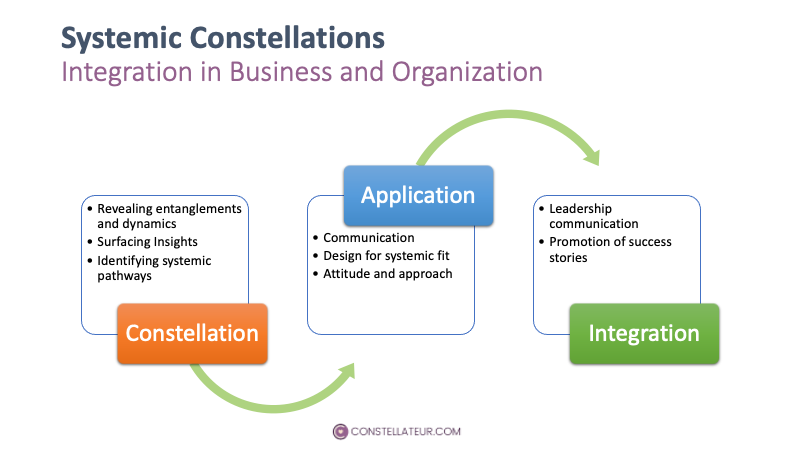 Process Steps for integrating systemic constellations in business and organizations