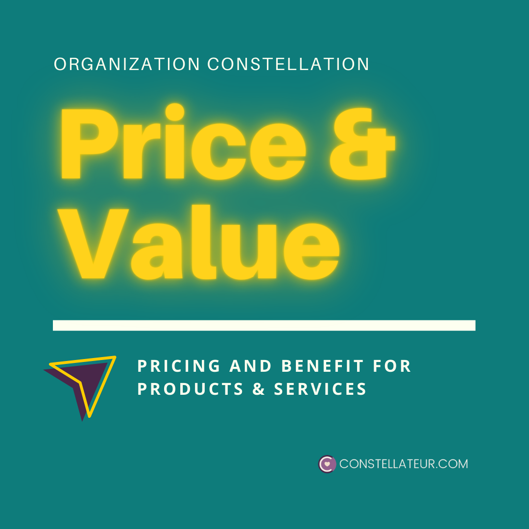 Organization Constellation for Pricing, Value and Benefit Decisions